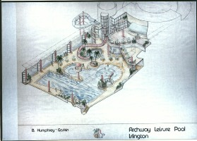 Archway Leisure Pool Internal Axonometric